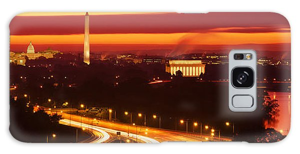 Sunset, Aerial, Washington Dc, District Galaxy Case