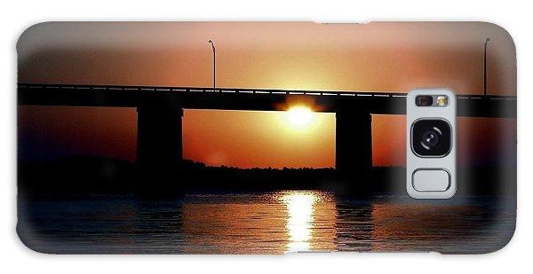 Sunset And Bridge Galaxy Case by Debra Forand