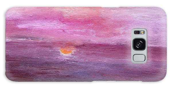Sunset And Ocean Galaxy Case by Vadim Levin