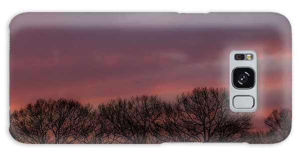 Sunset And Trees Galaxy Case