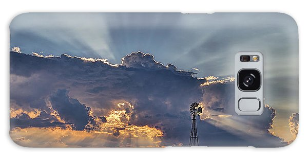 Sunset And Windmill Galaxy Case by Rob Graham