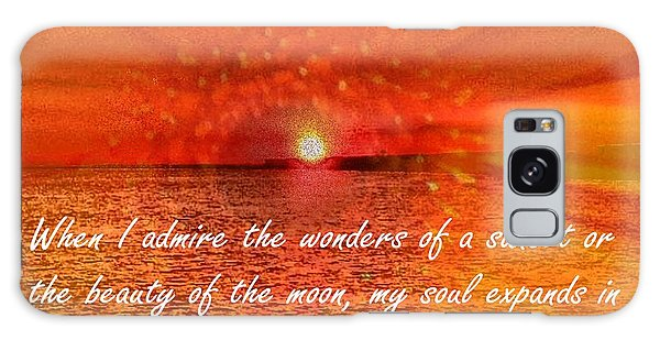Sunset And Worship Of The Creator By Saribelle Rodriguez Galaxy Case