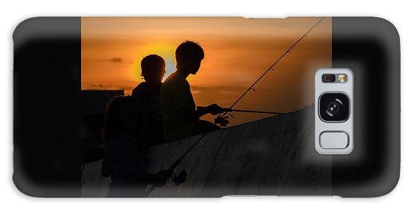 Sunset Anglers Galaxy Case