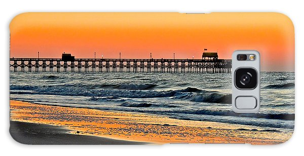 Sunset Apache Pier Galaxy Case by Eve Spring