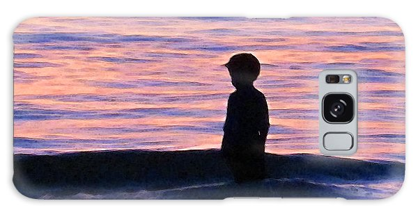 Ocean Sunset Galaxy S8 Case - Sunset Art - Contemplation by Sharon Cummings