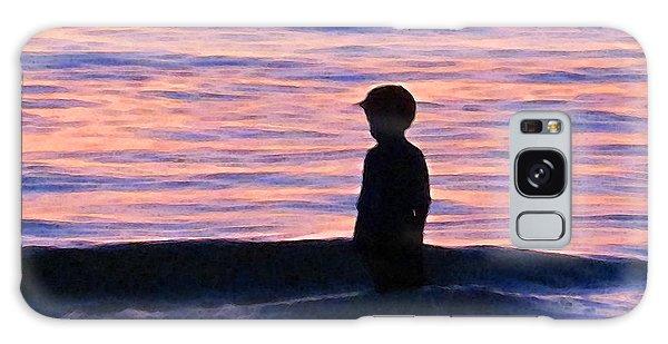 Sunset Art - Contemplation Galaxy Case