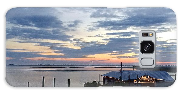 Sunset At American Fish Co       Safe Havens Ivans In Southport Nc Galaxy Case
