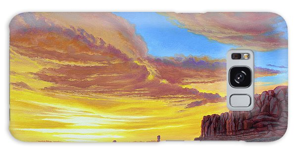 Arched Galaxy Case - Sunset At Arches by Paul Krapf