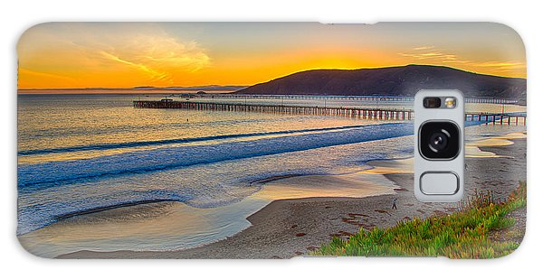 Sunset At Avila Beach Galaxy Case