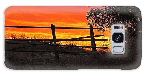 Sunset At Bear Butte Galaxy Case by Mary Carol Story