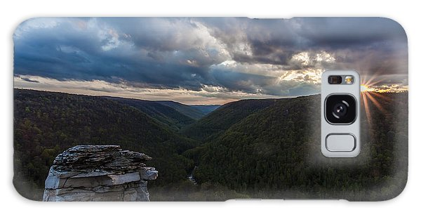 Sunset At Blackwater Falls State Park Galaxy Case by Amber Kresge