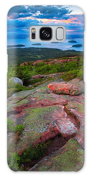 Sunset At Cadillac Mountain Galaxy Case