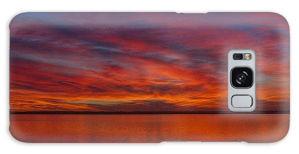 Sunset At Cheyenne Bottoms 1 Galaxy Case