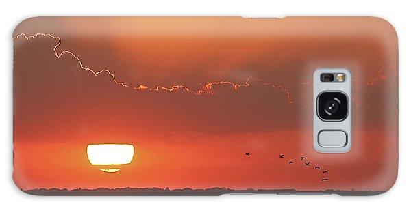 Sunset At Cheyenne Bottoms Galaxy Case