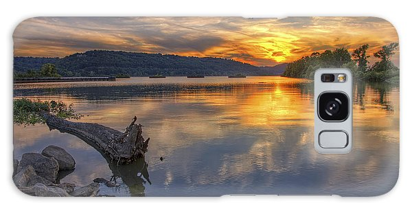 Sunset At Cook's Landing - Arkansas River Galaxy Case