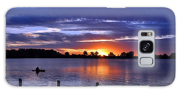 Sunset At Creve Coeur Park Galaxy Case