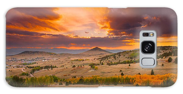 Sunset At Cripple Creek Overlook Galaxy Case