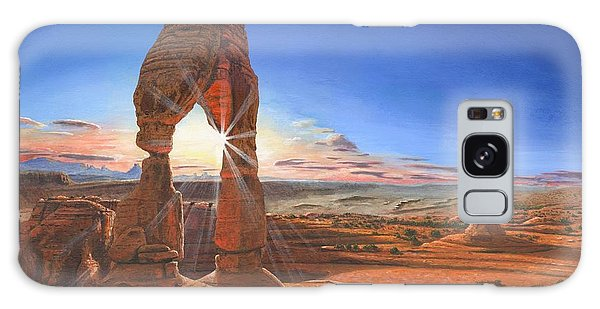 Sunset At Delicate Arch Utah Galaxy Case