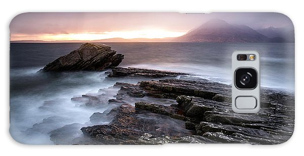 Scottish Galaxy Case - Sunset At Elgol Beach by Nicoleta Nussthaler