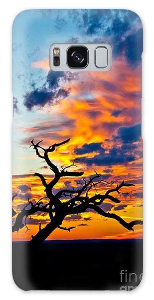 Sunset At Enchanted Rock Galaxy Case