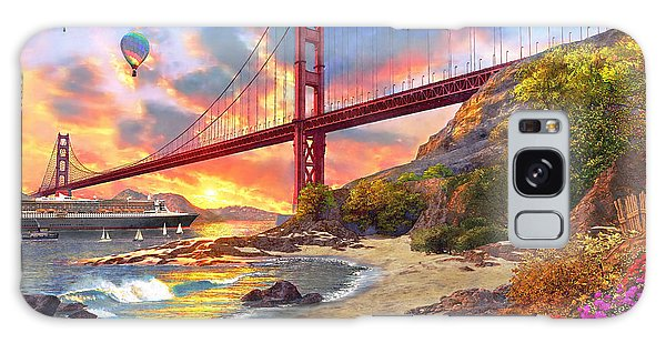 Architecture Galaxy Case - Sunset At Golden Gate by Dominic Davison