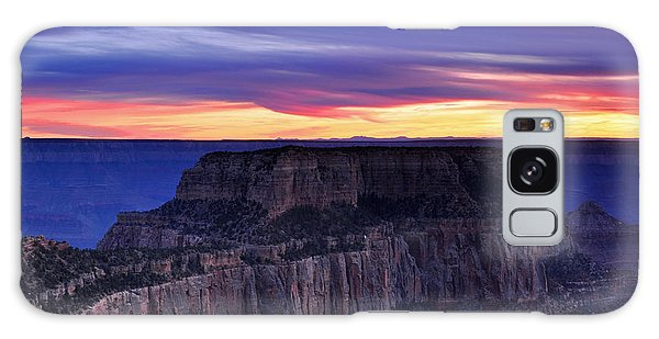 Sunset At Grand Canyon North Rim Royal Point  Galaxy Case