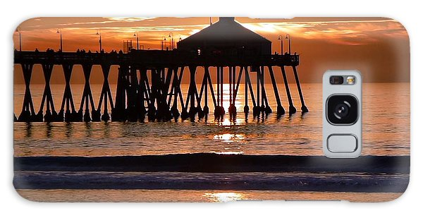Sunset At Ib Pier Galaxy Case by Barbie Corbett-Newmin