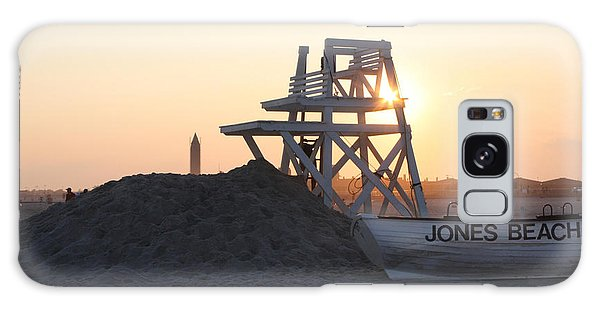 Sunset At Jones Beach Galaxy Case by John Telfer