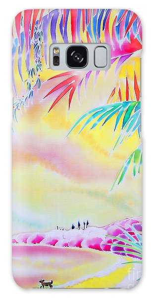 Sunset At Kuto Beach Galaxy Case