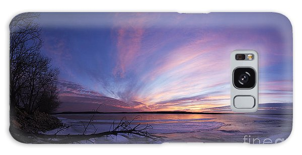 Sunset At Lovewell Lake Kansas Galaxy Case