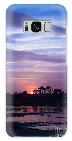 Sunset At Malibu Beach Lagoon Estuary Fine Art Photograph Print Galaxy Case by Jerry Cowart