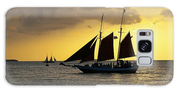 Sunset At Mallory Square II Galaxy Case by Greg Graham