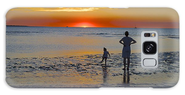 Sunset At Mindil Beach Galaxy Case by Venetia Featherstone-Witty
