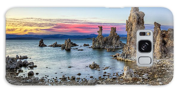 Sunset At Mono Lake Galaxy Case