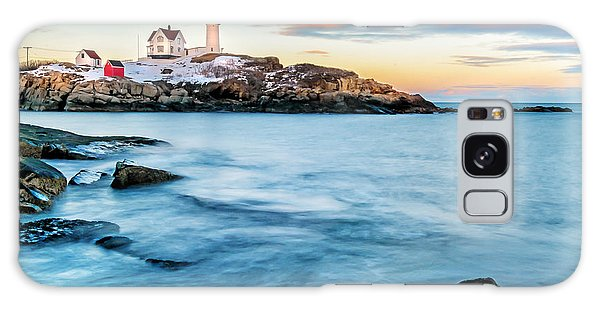 Sunset At Nubble Light-cape Neddick Maine Galaxy Case