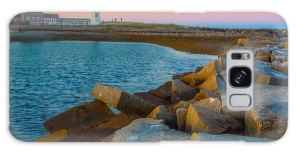 Sunset At Old Scituate Lighthouse Galaxy Case