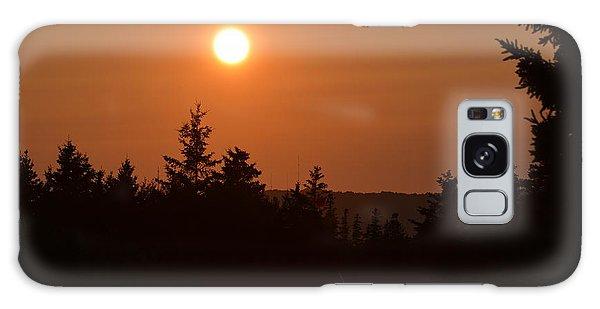 Sunset At Owl's Head Galaxy Case