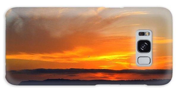Sunset At Point Loma From Coronado California Galaxy Case