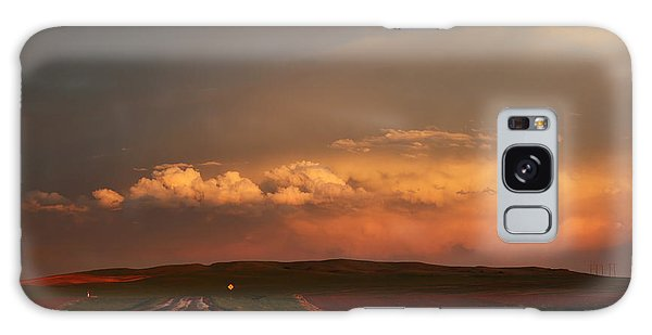 Sunset At Rockglen Galaxy Case by Ryan Crouse