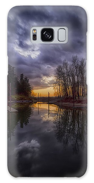Galaxy Case featuring the photograph Sunset At Rooster Rock by Jon Ares