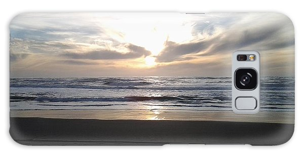 Sunset At San Gregorio Galaxy Case