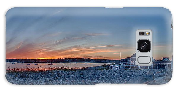Sunset At Scituate Light Galaxy Case by Jeff Folger