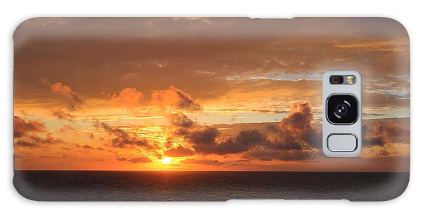 Sunset At Sea Galaxy Case by John Roberts