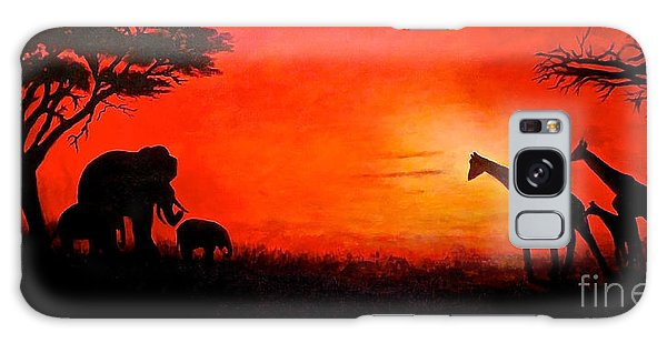 Sunset At Serengeti Galaxy Case