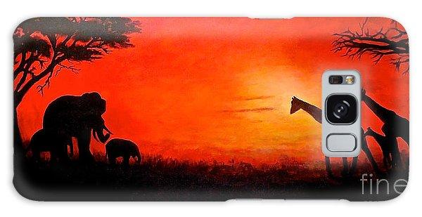 Sunset At Serengeti Galaxy Case