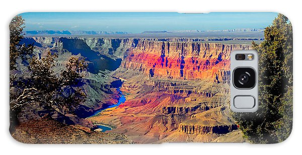 Haybale Galaxy Case - Sunset At South Rim by Robert Bales