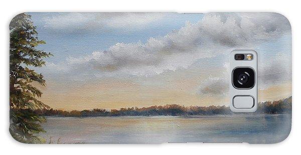 Sunset At Sparta Lake New Jersey Galaxy Case
