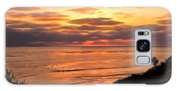 Sunset At Swami's Encinitas Galaxy Case by Michael Pickett