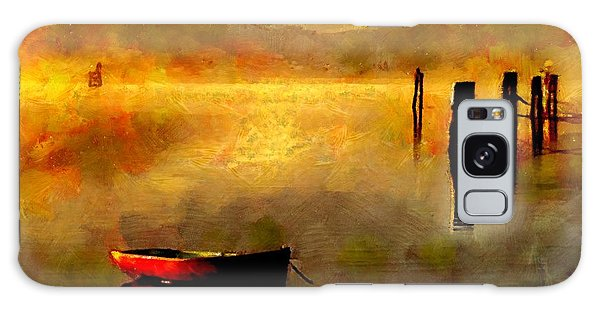 Sunset At The Bay Galaxy Case by Wayne Pascall