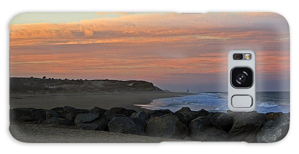 Sunset At The Beach Galaxy Case by Robert Pilkington